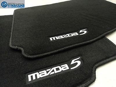MAZDA 5 2006-2010 NEW OEM FRONT BLACK FLOOR MATS