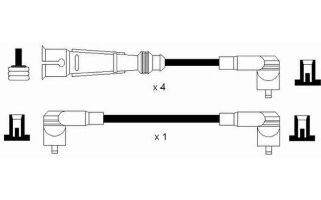 NGK Cables de bujias Para VW POLO 0964