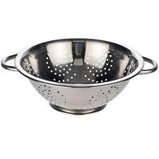 Salatseiher Seiher Küchensieb aus Edelstahl mit zwei Griffen Durchmesser 28 cm