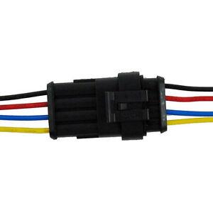 5x-4polig-Auto-Superseal-KFZ-Stecker-mit-Kabel-Set-Steckverbindung-Wasserdicht