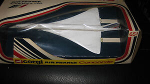 CORGI-TOYS-651-AIR-FRANCE-CONCORDE-JET-BOXED-MADE-IN-GREAT-BRITAIN-HARD-TO-FIND