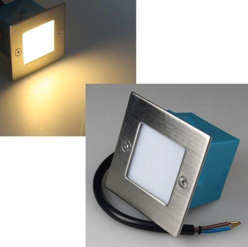 CT20578 Led Einbau-Leuchte WW Edelstahl 230V 1,5W IP54 Stufenlicht 15 Stck