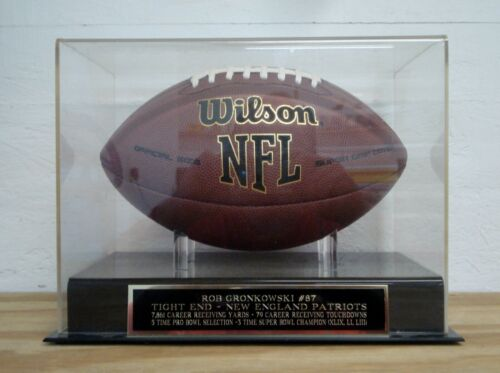 Display Case For Your Rob Gronkowski New England Patriots Signed Football
