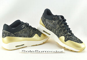 Details about Womens Nike Air Max 1 Ultra 2.0 Flyknit SIZE 5 NEW 881195 001 Gold White