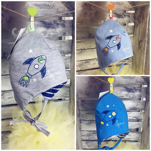 Baby Boy Toddler Cotton Tie Up Hat Newborn Spring Autumn Cap Scary Face Contest