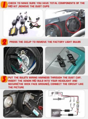 H7 Xenon HID Conversion Kit Headlight Lamp Canbus Error Free for Ford Galaxy MPV