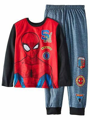 4//5 Red Top W// Spiderman On Front Black Bottoms W// Graphics Spiderman Boy/'s XS