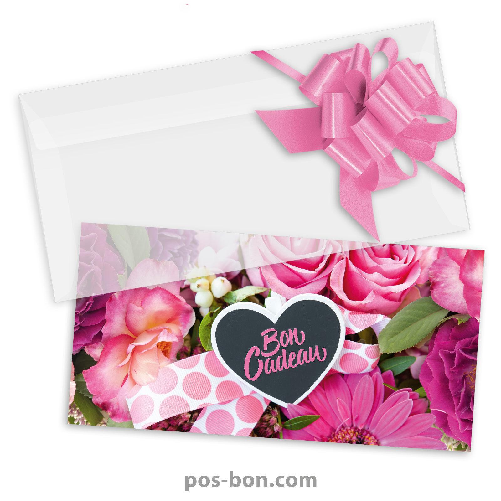 Bons cadeaux universels + enveloppes + nœuds rub. pour toutes occasions BL9244F