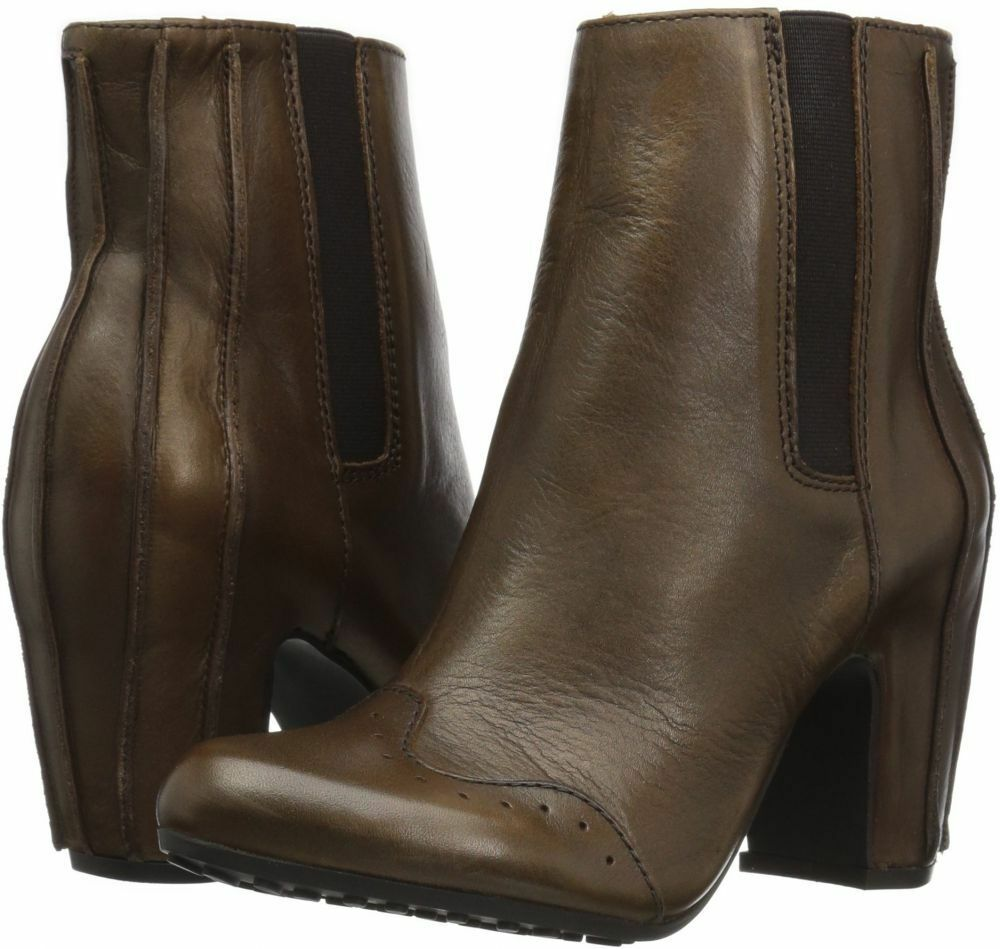 FLY London EUR 38  US 7,5 - 8   Grace braun  Leather Ankle Stiefelies Stiefel NEW