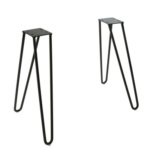 """17/"""" DIY Industrial Table Legs for Bench Desks,Chairs or Coffee Tables Set of 2"""