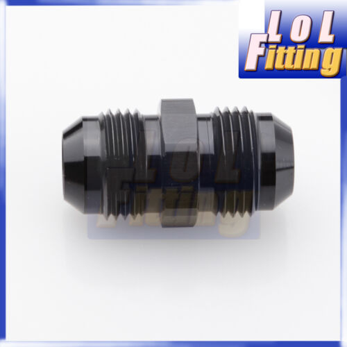 6 to AN6 Aluminium Straight Male Flare Union Fitting Adapter Black 6 AN