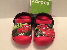 Crocs Lightning McQueen Disney Cars Clogs Red Summer Shoes Glows in Dark 4/5