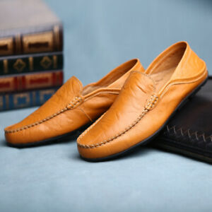 Mens-Driving-Moccasins-Comfortable-Slip-On-Loafers-Fashion-Leather-Dress-Shoes