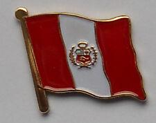 Peru Country Flag Enamel Pin Badge