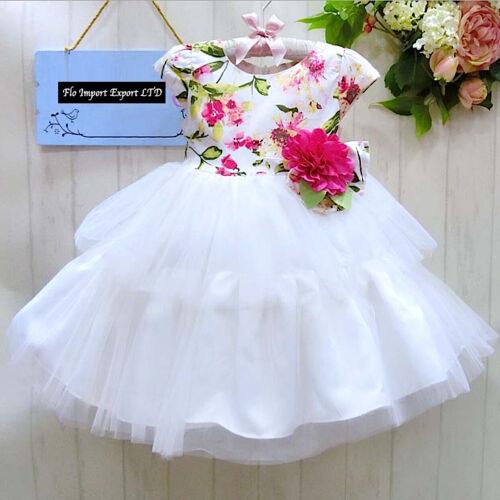 Girl Summer Flower Princess Dress DG0021 Vestito Bambina Abito Estate Fiori