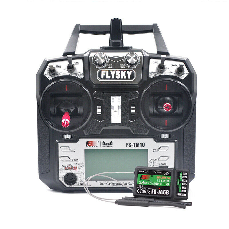 Flysky FS-TM10 2.4G 10CH RC Transmitter With IA6B Receiver For RC Quadcopter Car
