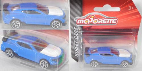 Majorette 212053051 Chevrolet Camaro SS 1LE blau Motorhaube weiß 1:64 STREET CAR
