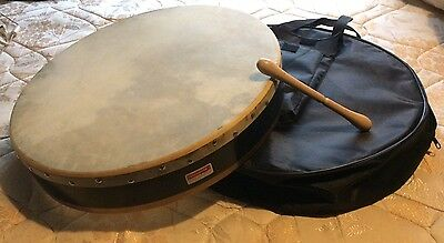 """18"""" Bodhran Irish Hand Drum With Beater And Case/Cover/Bag"""