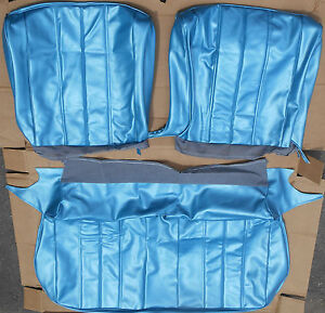 1966 Chevelle Bright Blue Front Bench Seat Covers Set Ebay