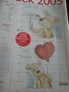 """""""juste Pour Vous!/grand Coeur."""" Newton's Law Cross Stitch Chart Only-afficher Le Titre D'origine"""