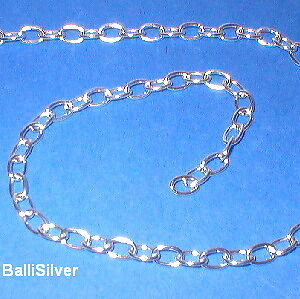 Jewelry Making 5 feet BULK Sterling Silver 925 OVAL ROLO Cable CHAIN 3x4mm