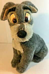 Vintage-Disney-Tramp-Plush-with-Blue-Collar-From-Lady-and-the-Tramp-Large-18-034