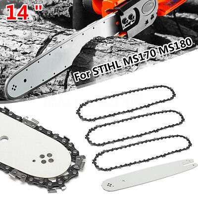 14/'/' Chainsaw Guide Bar /& 3//8 LP 50DL Saw Chain For STIHL MS170 MS180 MS190T !
