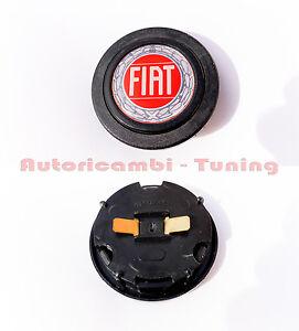 PULSANTE-CLACSON-STEMMA-FIAT-500-126-850-131-132-VOLANTE-SPORTIVO-AUTO-D-039-EPOCA