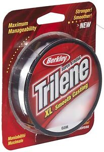 Berkley-TRILENE-XL-LISCIO-COLATA-TRASPARENTI-MONO-300yd-bobine-di-pesca-4lb-a-20lb