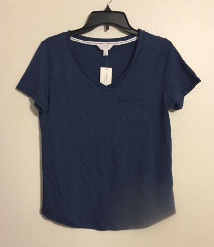 Charter Club Women/'s Cotton Knit Pajama T-Shirt Top 100052482 Pink Blue XS L XL