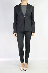 SPORTSCRAFT-Navy-Pinstripe-Wool-Blend-Blazer-Jacket-Size-8-As-New