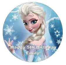 "Elsa Frozen Personalised Cake Topper 7.5"" Edible Wafer Paper"
