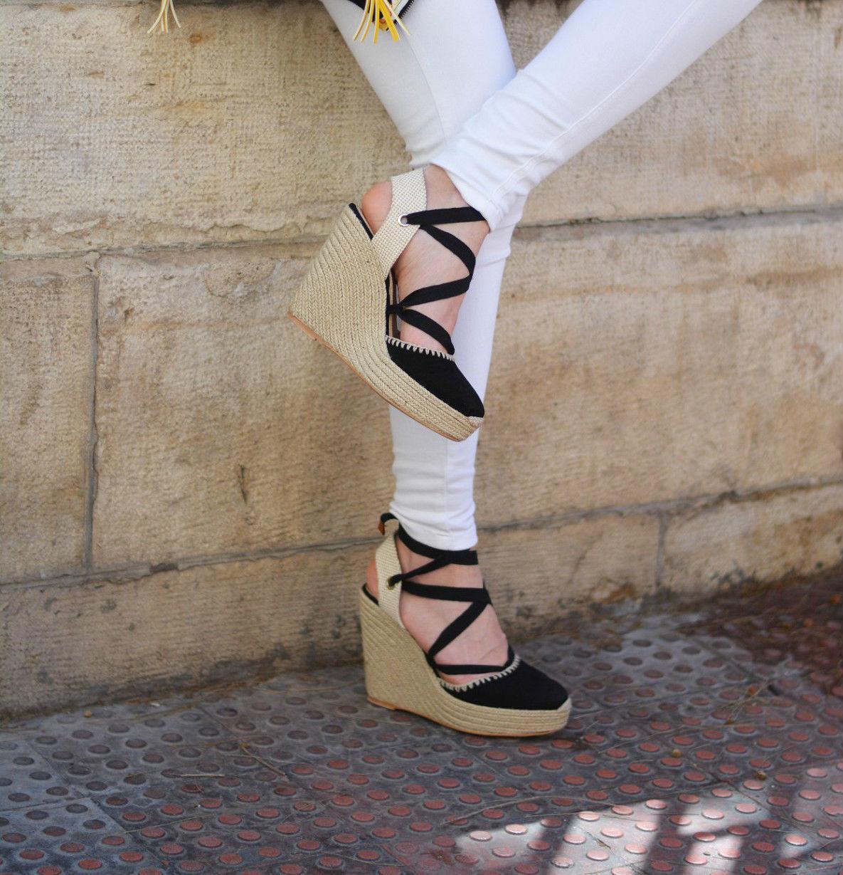 ZARA Damenschuhe Leder Wedges High Heel Schuhes SIZE UK4 UK4 SIZE EUR37 US6.5 c915e8