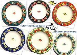 HiPPO-Bopla-Porzellan-22cm-tiefer-Teller-Suppenteller-Schale-fuer-Beilagen-Brot