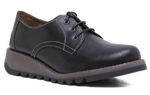 de 6 London 5 Reino Shoes Fly Leather Simb Black Junior Youth 3 Unido Tamaño Wedge qABwBZ7