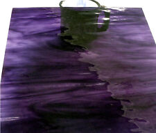 "110 Mosaic Tiles 1/2"" PURPLE IRIS WISPY WATERGLASS Transparent Stained Glass"