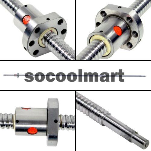 For CNC SFU1604-L330mm Ballscrew with Single Flange BallNut with End Machine New