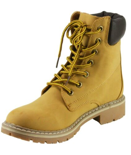 Forever Women/'s Broadway-3 Lace-up Combat style Ankle-High Low Heel Boots