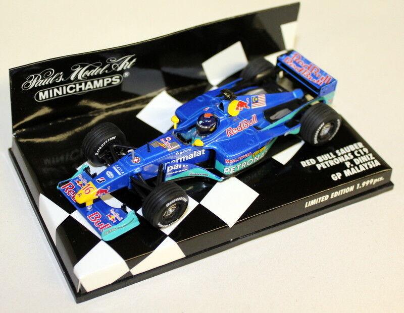 Minichamps 1 43 Scale 430 000116 Red Bull Sauber Petronas C19 Malaysia GP Diniz