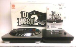 DJ Hero 2 Turnable for Nintendo Wii & Dj Hero 2 Game Excellent Condition