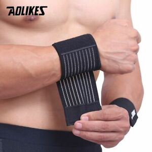 Aolikes 1 Piece Cotton Elastic Bandage Hand Sport Gym Support