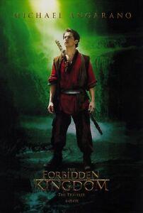 THE FORBIDDEN KINGDOM Movie POSTER 27x40 D Jet Li Jackie ...