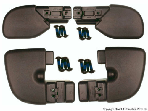 Set of 4 Bumper End Caps Front /& Rear Left /& Right Fits 1997-2006 Jeep Wrangler