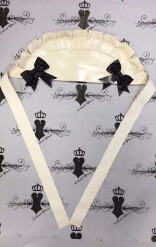 Westward Bound Latex MAIDS CAP *White/Black Trim* Accessories RRP £39.85