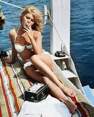 Brigitte Bardot Smoking 10x8 Photo