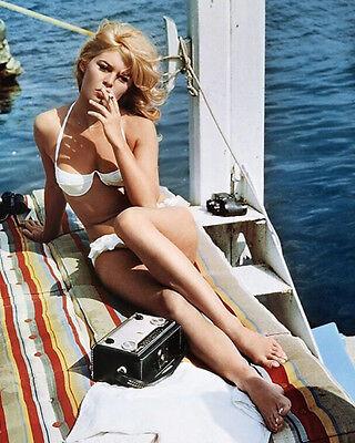 Brigitte Bardot Smoking 10x8 Photo