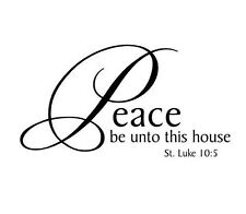 PEACE BE UNTO THIS HOUSE Wall Lettering Words Decal Vinyl Quote Sticker Decor