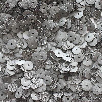 Vermetel 6mm Flat Sequin Paillette ~ Premium Gray Tweed Effect ~ Made In Usa Fijn Vakmanschap
