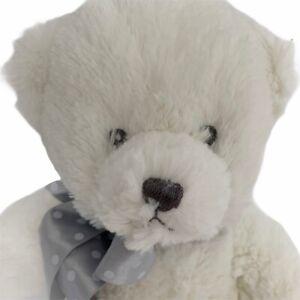 Aurora-Baby-White-Teddy-Bear-Super-Soft-Plush-13-034-Cuddly-Boy-Girl-Gift-NEW
