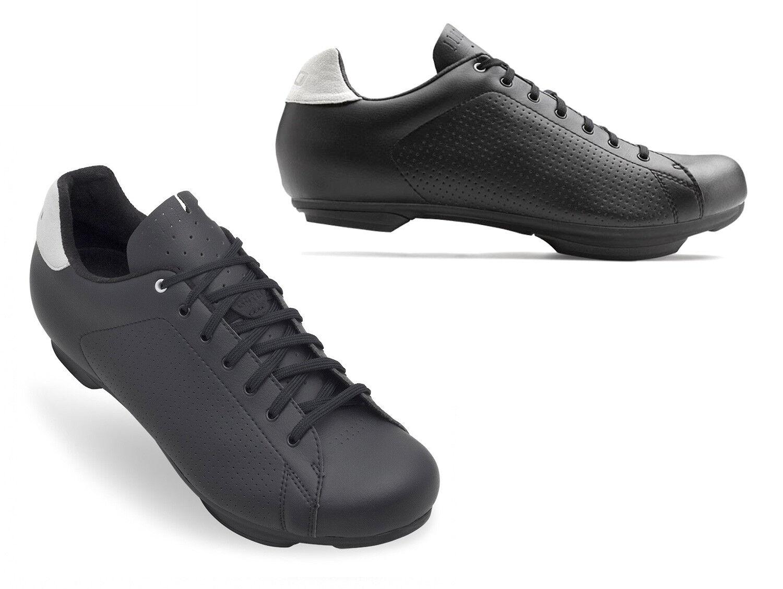 Nuevo giro República SPD Zapatos de Ciclismo, Negro gris